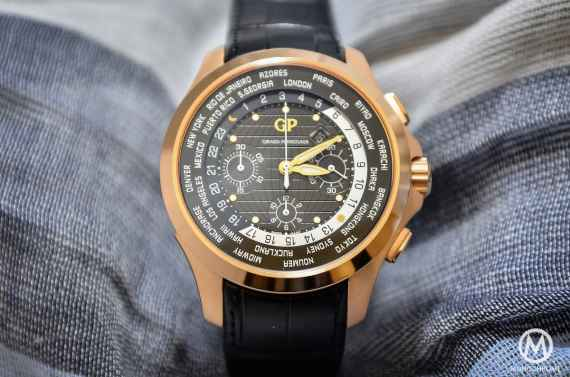 Girard-Perregaux Traveller WW.TC Pink Gold black dial - 3