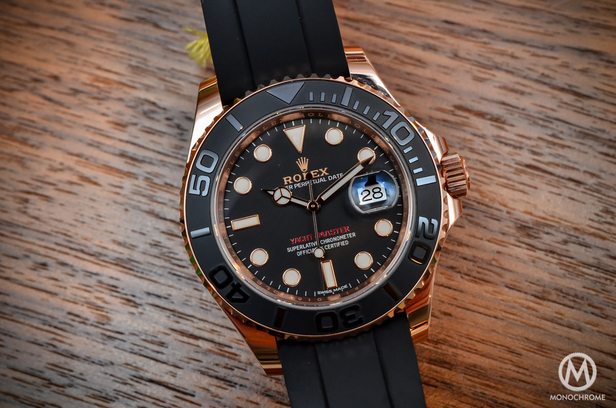 Hands-on with the Rolex Yacht-Master 116655 (Everose gold on Rubber Strap