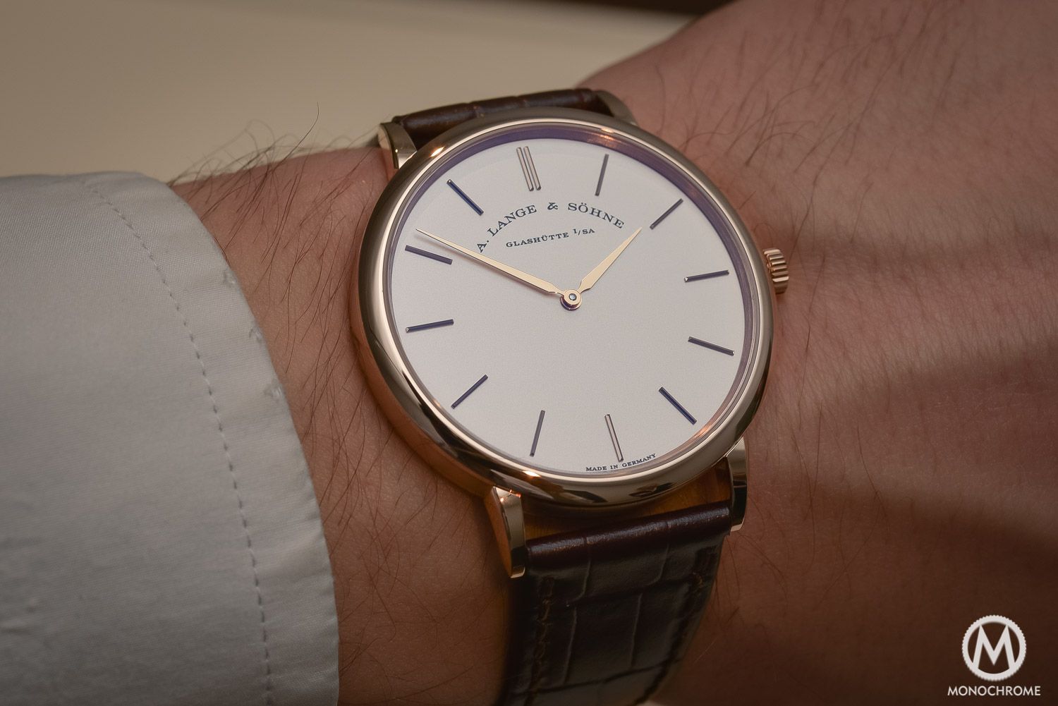 Hands-on with the 2016 edition of the A. Lange & Sohne Saxonia Thin, with new face (live pics, specs & price)