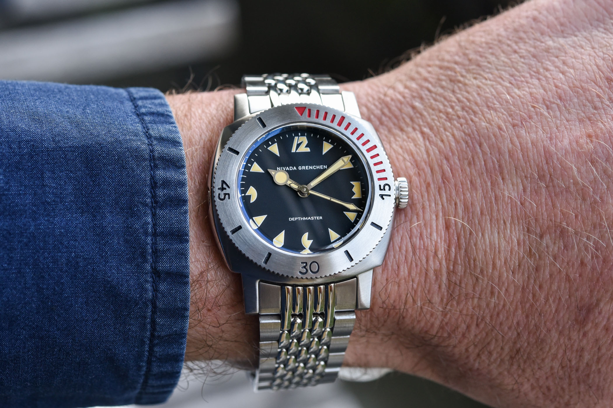 Nivada Grenchen Depthmaster Pacman re-edition